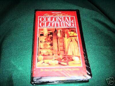 Coloniall Williamsburg Colonial Clothing New VHS TAPE Clothing Men Women Sealed](Womens Colonial Clothing)