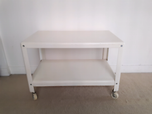 White trolley table Meadowbank Ryde Area Preview