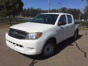 2008 Toyota Hilux GGN15R 08 Upgrade SR White 5 Speed Manual Dual Cab Pickup Homebush West Strathfield Area Preview