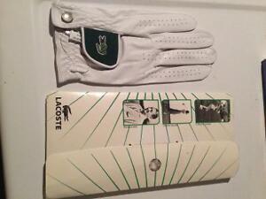 Lacoste white leather golf glove. New, never used!