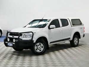 2013 Holden Colorado RG LX (4x4) White 5 Speed Manual Crew Cab P/Up