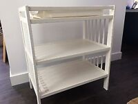 Baby changing table white