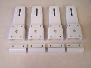 Pop-Up-Camper-Roof-Latch-White-SET-OF-4-White-Catch