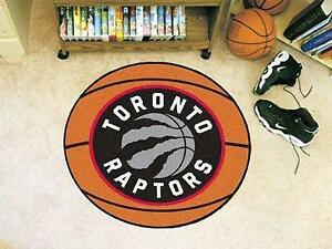 NBA - Basketball Mat 27 Inch Diameter Durable Floor Protector Non Skid Rug Mat (Toronto Raptors)