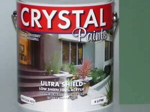 HERITAGE GREEN 4 LITRE PAINT EXTERIOR ULTRA SHIELD LOW SHEEN Underwood Logan Area Preview