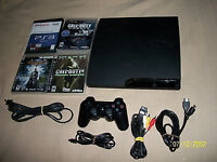 ps3 slim 160gb (cech 3003a) complete with original wireless controller and 4 gam