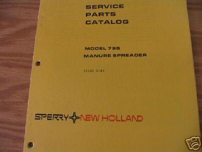 New Holland 795 Manure Spreader Parts Catalog