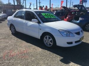 2005 Mitsubishi Lancer CH LS White 4 Speed Automatic Sedan Lansvale Liverpool Area Preview