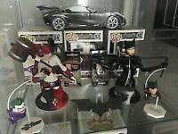 Batman DC Super Heroes Catwoman Bust And DC Villains Harley Quinn Bust Rare Boxd