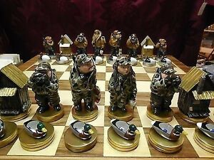 Ducks Unlimited Waterfowl Hunters Chess Set