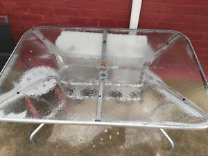 Outdoor glass table with umbrella hole St Morris Norwood Area Preview