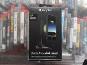 Brand New Mophie Charge Force Magnetic Desktop Mount With Wireless Charging