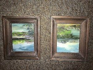 2 Small Framed Nature Paintings