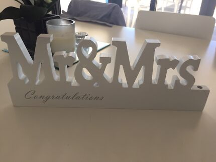 Mr Mrs Wedding Sign