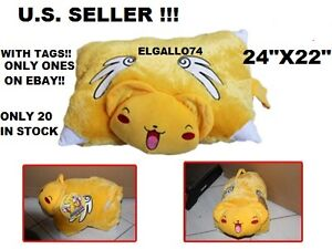 NEW-NWT-CARD-CAPTOR-24-KERO-SAKURA-PLUSH-PILLOW-PET-TRANSFORMING-CUSHION-U-S