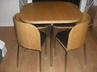 Wanted: space saving dining table and chairs. Ikea Fusion or Hygena Amparo