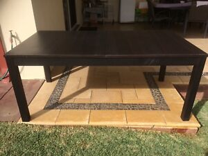 Dark Brown Extendable Dining Table