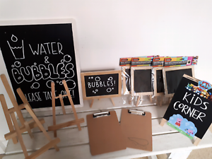 Blackboards, mini clipboards and easels Meadowbank Ryde Area Preview