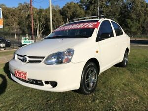 2004 Toyota Echo NCP12R White 4 Speed Automatic Sedan Clontarf Redcliffe Area Preview
