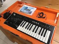 KORG MICRO X SYNTH IN KORG CASE,MINT,WITH MAINS