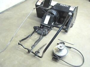 """like new berco 2 stage 44"""" delux snowblower attachment"""