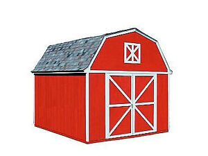10'x10' Barn Style Shed kit not assembled