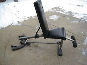 NAUTILUS HEAVY-DUTY INCLINE/FLAT/DECLINE FOLDING WEIGHT BENCH w