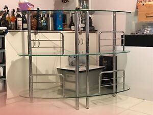Bar table with glass top (good condition) Merrylands Parramatta Area Preview