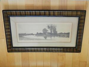 Antique 1890 Lithograph in Grain Painted Frame Kitchener / Waterloo Kitchener Area image 1
