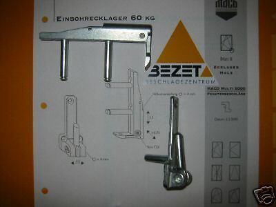 MACO Reparatur Set 10915 Eckband mit Ecklager für Fenster und Türen silber verz.
