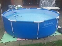 12 ft Best Way Steel Frame Swimming Pool and Accessories