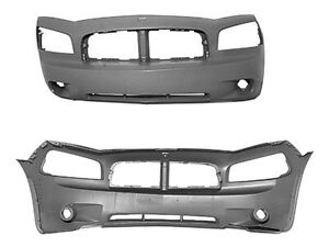 NEW 2006-2010 DODGE CHARGER FRONT BUMPER WITHOUT SRT8 OR FOG