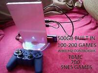 CUSTOM PS2 SLIM 500GB 870 GAMES & WIRELESS & MORE
