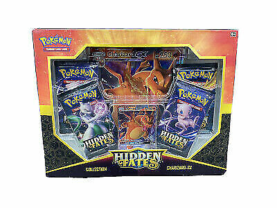 New Sealed Pokemon Hidden Fates Charizard GX Booster Collection Box
