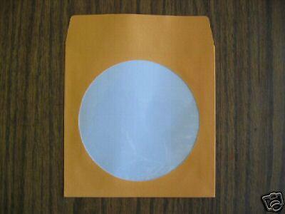 1000 Orange Cd Dvd Paper Sleeve With Window Js203