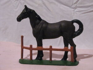 Antique Cast Iron Horse and Fence Doorstop