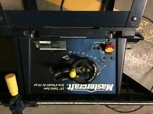 """Mastercraft 10"""" Tablesaw on stand"""