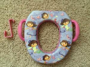 Dora the explorer potty training seat and toilet hook
