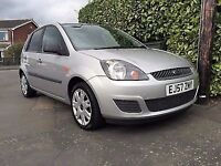 2007 (57) FORD FIESTA 1.4 TDCI 5 DOOR SILVER SERVICE HISTORY £30 ROAD TAX