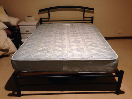 Double bed and Mattress - Steel Frame