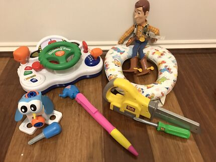 Andy Toy Story, Cars Steering Wheel, Bob the Builder, Penguins, Pen