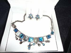 Fifth Avenue Collection Fashion Gemstone Necklace & Earring Sets