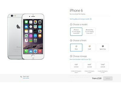 EE sells the 16GB iPhone 6 for £519.99 on PAYG