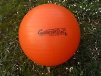 Gym /exercise ball, nice bright colour, 53cm/21""