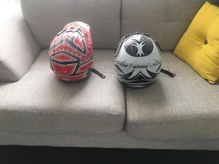 Helmets (motor cross - XL and M)