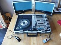 Vintage Sanyo G-2615N Suitcase Record Player Stereo cassette Radio music centre