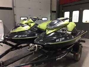 2 PERSONAL WATERCRAFT, incld TRAILER & COVERS  - AS IS