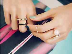 Trendy-Golden-Punk-Pearl-Rhinestone-Finger-Ring-Set-For-Girls