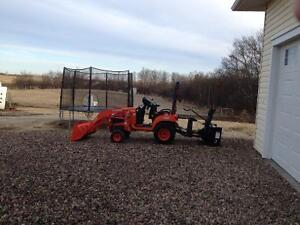 Kubota and attachments for sale