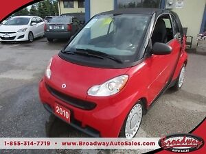 2010 Smart fortwo FUEL EFFICIENT 'PURE MODEL' 2 PASSENGER 1.0L -